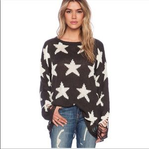 Wildfox Seeing Stars Distressed Sweater